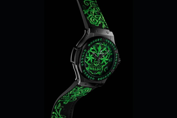 Hublot Big Bang Broderie Sugar Skull Fluo